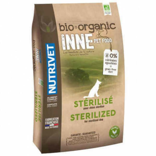 Croquettes Nutrivet Inne Bio pour chien stérilisé Sac 3 kg
