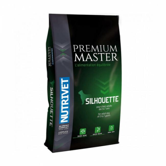 Croquettes Nutrivet Master Premium Silhouette light pour chien