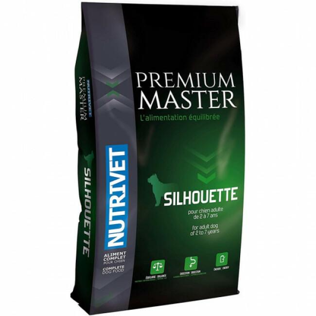 Croquettes Nutrivet Master Premium Silhouette light pour chien Sac 15 kg
