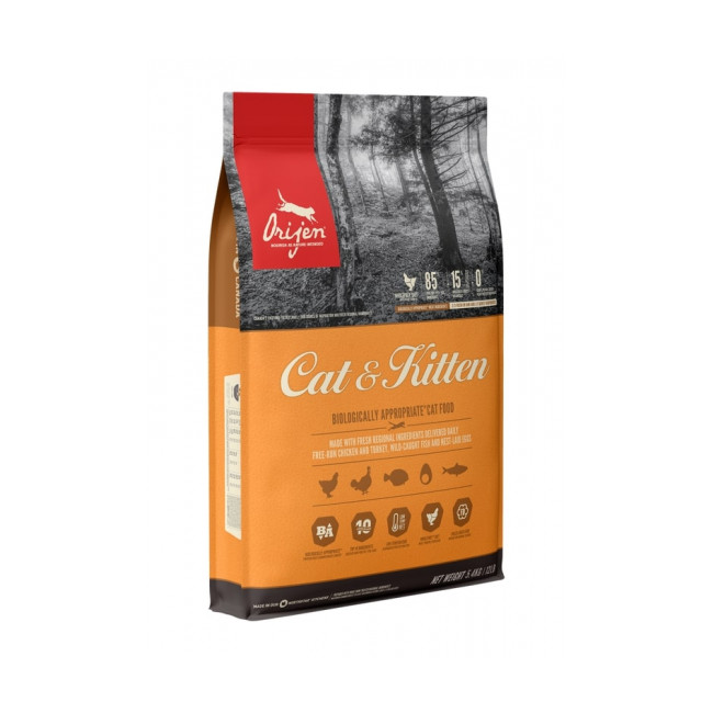 Croquettes Orijen Cat & Kitten pour chat