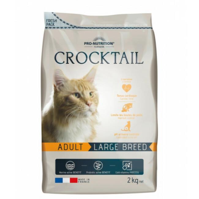 Croquettes pour chat adulte de grande race Large Breed Crocktail Flatazor Pro-Nutrition