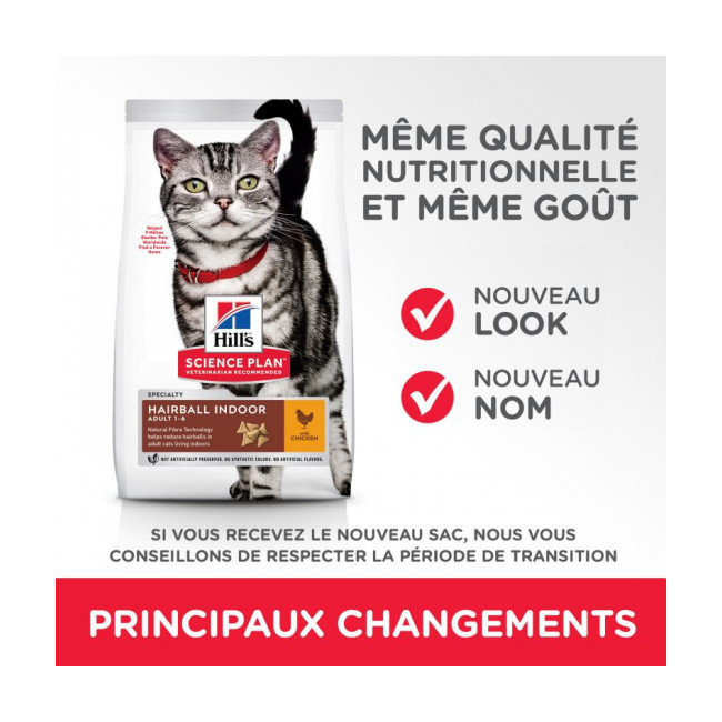 Croquettes pour chat adulte Hill's Science Plan Hairball Control