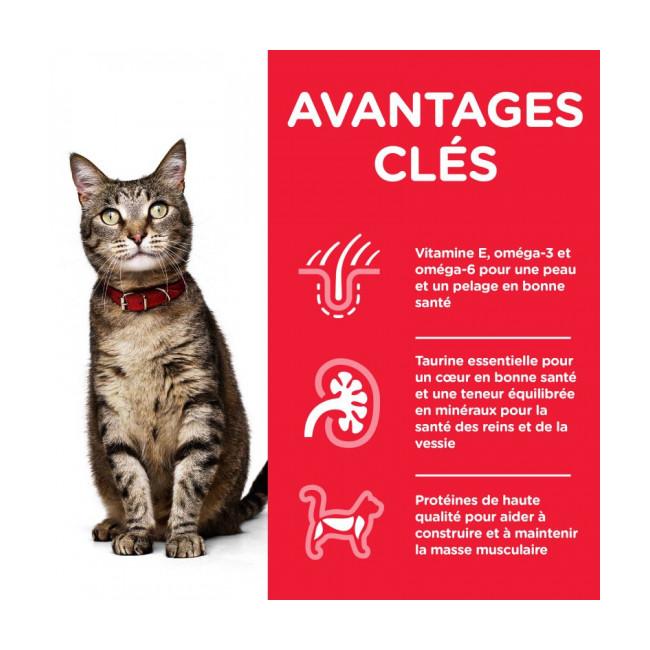 Croquettes pour chat adulte Hill's Science Plan santé et équilibre poulet