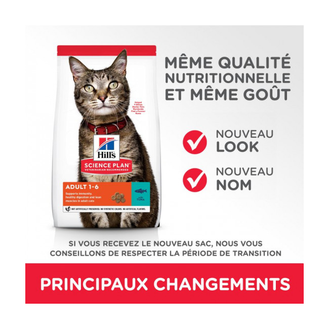 Croquettes pour chat adulte Optimal Care Hill's Science Plan Thon