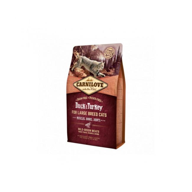 Croquettes pour chat grande race Carnilove Canard & Dinde