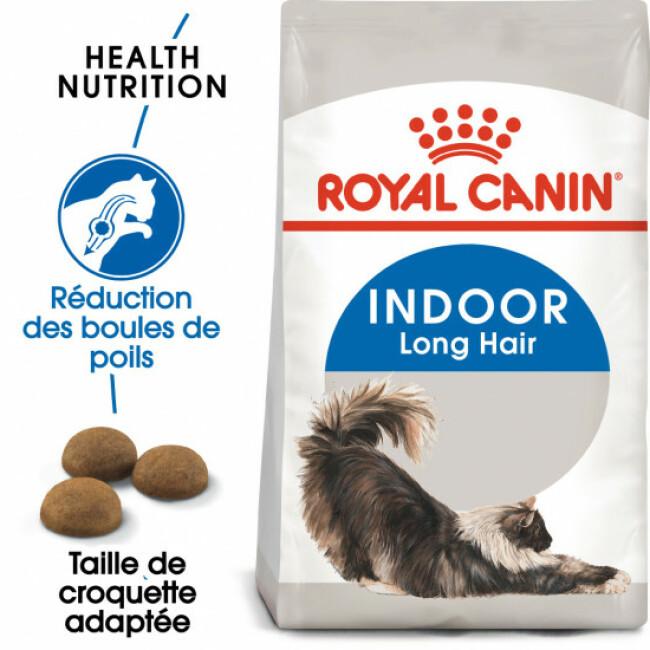 Croquettes pour chat Royal Canin adulte d'intérieur poils longs 35