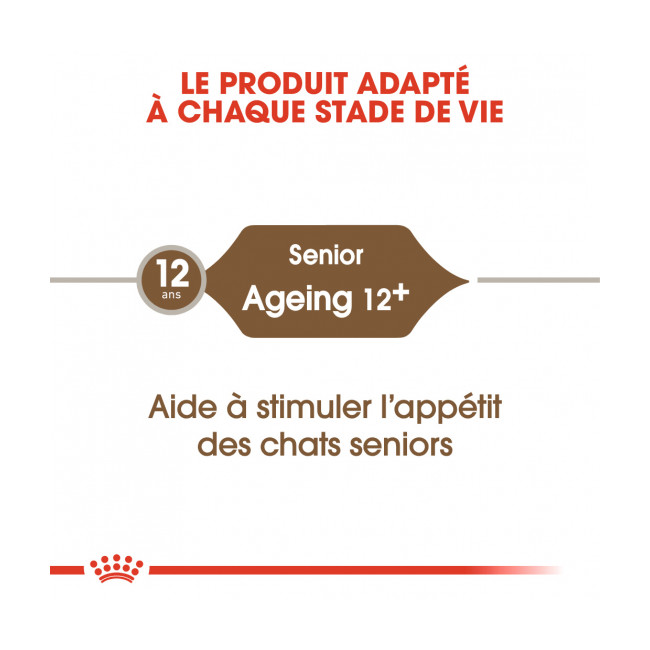 Croquettes pour chat senior Royal Canin Ageing 12+