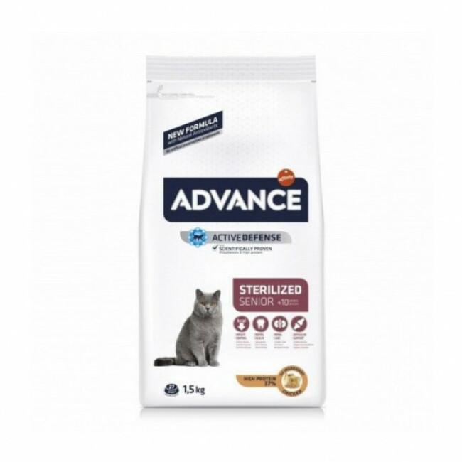 Croquettes pour chat Sterilised Advance +10 ans Sac 1,5 kg