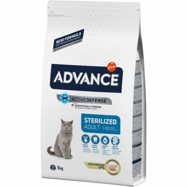 Croquettes pour chat Sterilised Advance Dinde