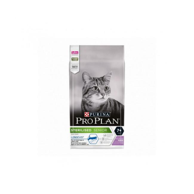 Croquettes pour chat stérilisé Pro Plan Sterilised adulte 7+ dinde