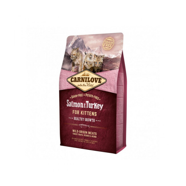 Croquettes pour chaton Carnilove Healthy Growth Saumon & Dinde