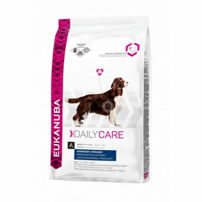 Croquettes pour chien adulte en surpoids ou stérilisé Eukanuba Daily Care