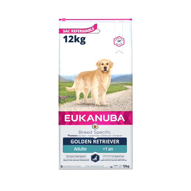 Croquettes pour chien adulte Golden Retriever Eukanuba Sac 12 kg