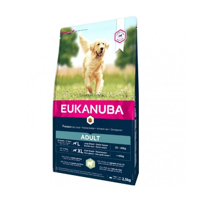 Croquettes pour chien adulte grandes races Eukanuba agneau et riz Sac 12 kg