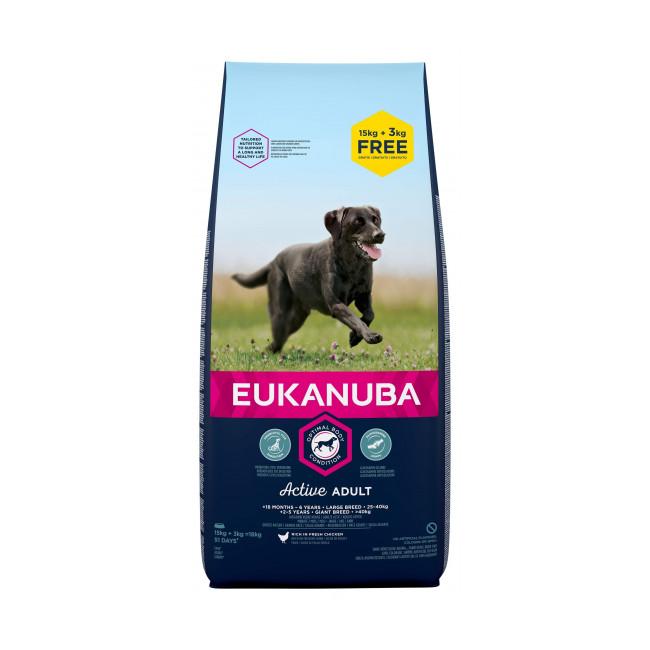Croquettes pour chien adulte grandes races Eukanuba poulet