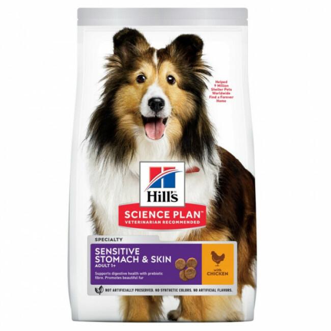 Croquettes pour chien adulte Hill's Science Plan Sensitive Stomach & Skin
