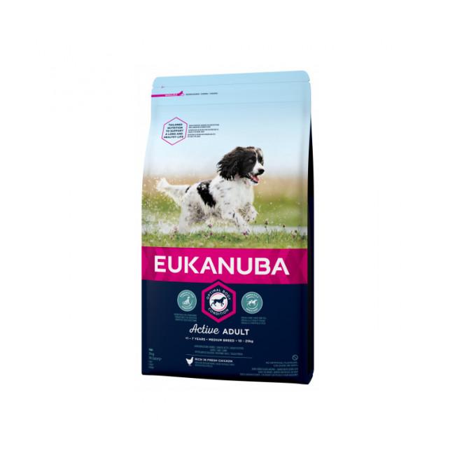 Croquettes pour chien adulte moyennes races Eukanuba