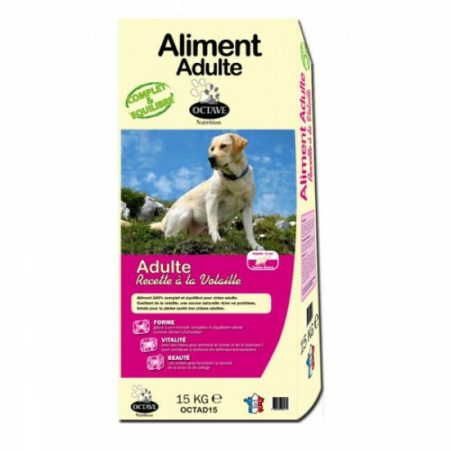 Croquettes pour chien adulte Octave sac de 15 kg