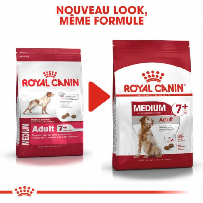 Croquettes pour chien adulte race moyenne mature 7+ Royal Canin
