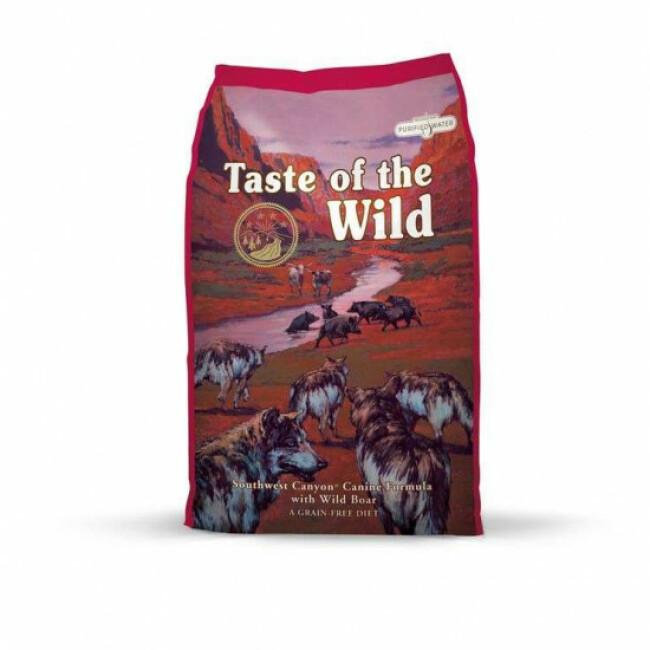 Croquettes pour chien adulte Southwest Canyon Taste of the Wild boeuf et sanglier Sac 13 kg