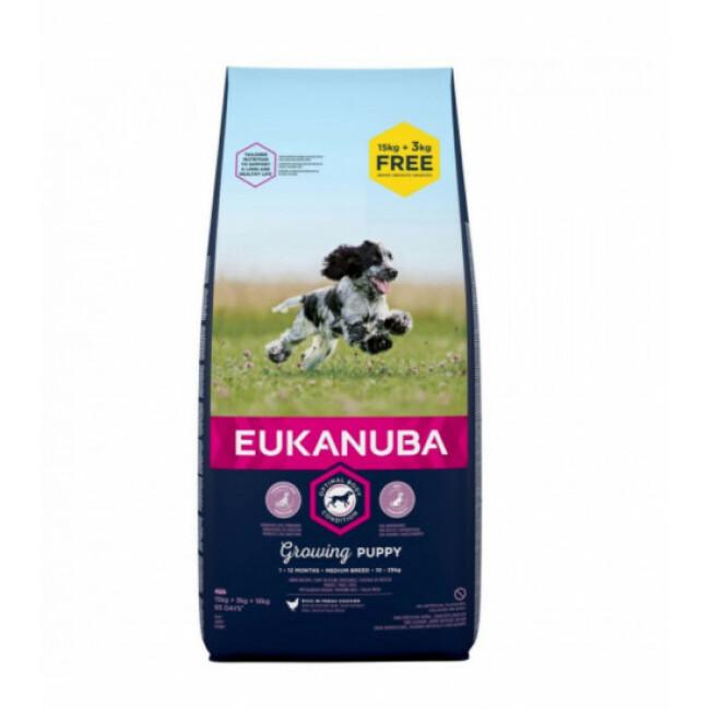 Croquettes pour chien Eukanuba Junior Moyennes Races Growing Puppy