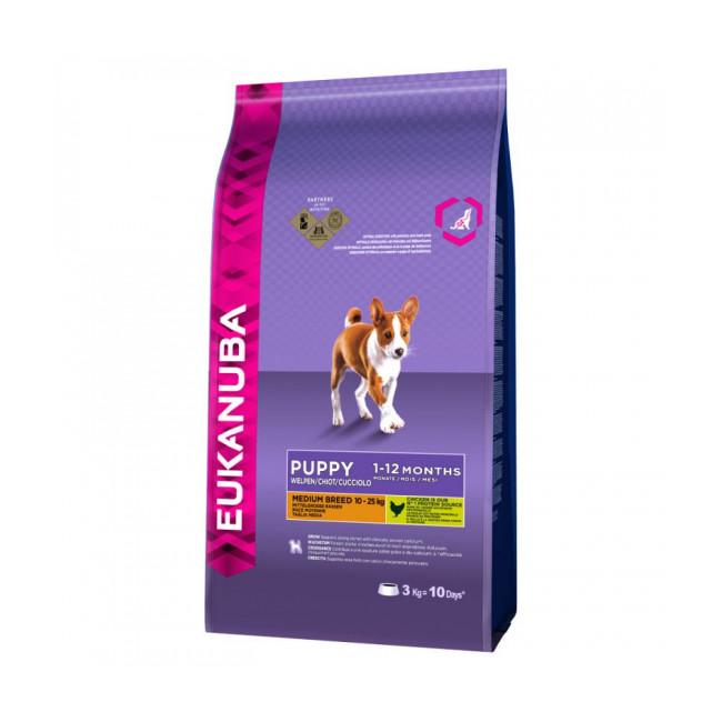 Croquettes pour chien junior race moyenne Eukanuba