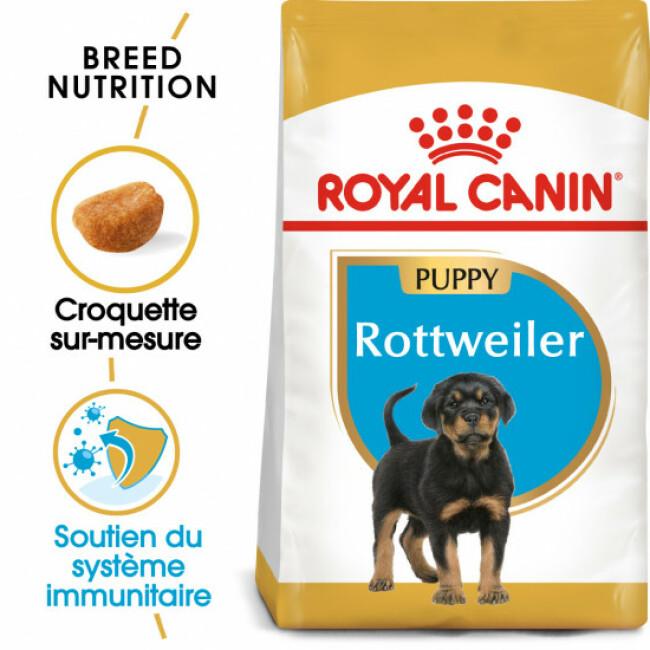 Croquettes pour chien junior Rottweiler Royal Canin Puppy Sac 12 kg