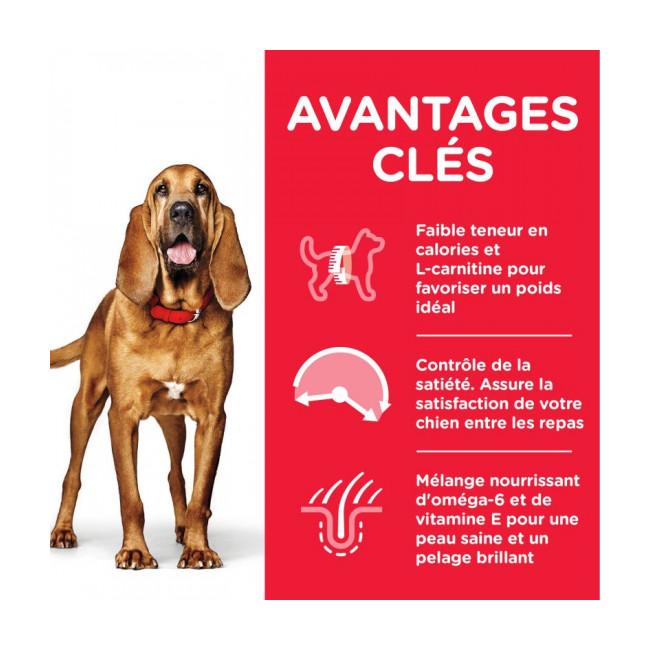 Croquettes pour chien mature Light Hill's Science Plan Poulet