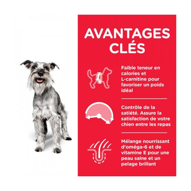 Croquettes pour chien mature Mini Light Hill's Science Plan Poulet Sac 2,5 kg