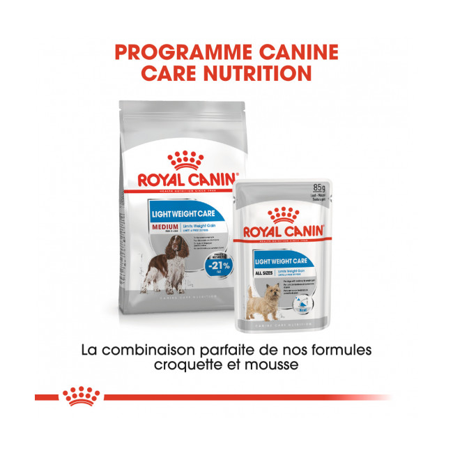 Croquettes pour chien race moyenne Light Weight Care Medium Royal Canin