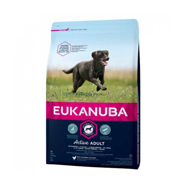 Croquettes pour chien senior Eukanuba grandes races au poulet sac 15 kg