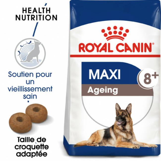 Croquettes pour chien senior Royal Canin grande race anti vieillissement 8+ Sac 15 kg