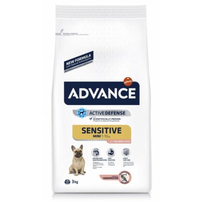 Croquettes pour chiens adultes petite race Advance Sensitive Sac 3 kg