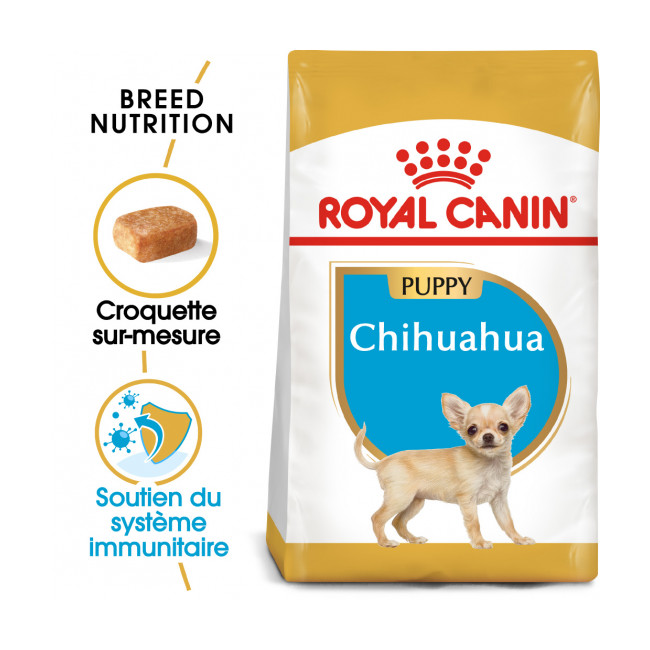 Croquettes pour chiot Chihuahua Royal Canin Breed Junior Sac 1,5 kg