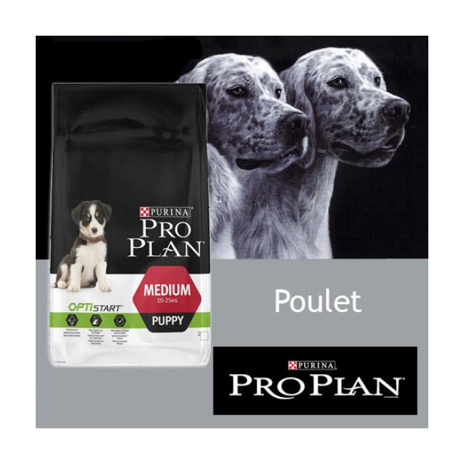 Croquettes pour chiot Pro Plan Puppy Medium au poulet