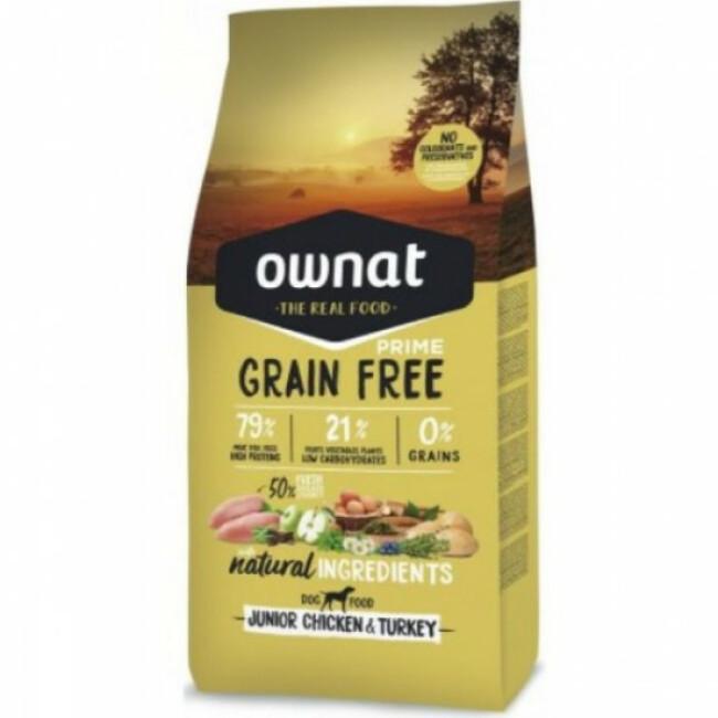 Croquettes pour chiot sans céréales Ownat Prime Grain Free Sac 14 kg