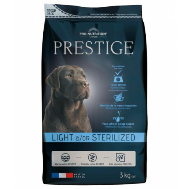 Croquettes Prestige adulte light / sterilized Flatazor Pro Nutrition pour chien