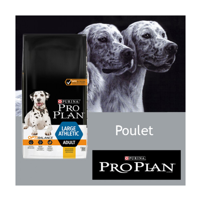 Croquettes Pro Plan chien adulte Large Athletic poulet