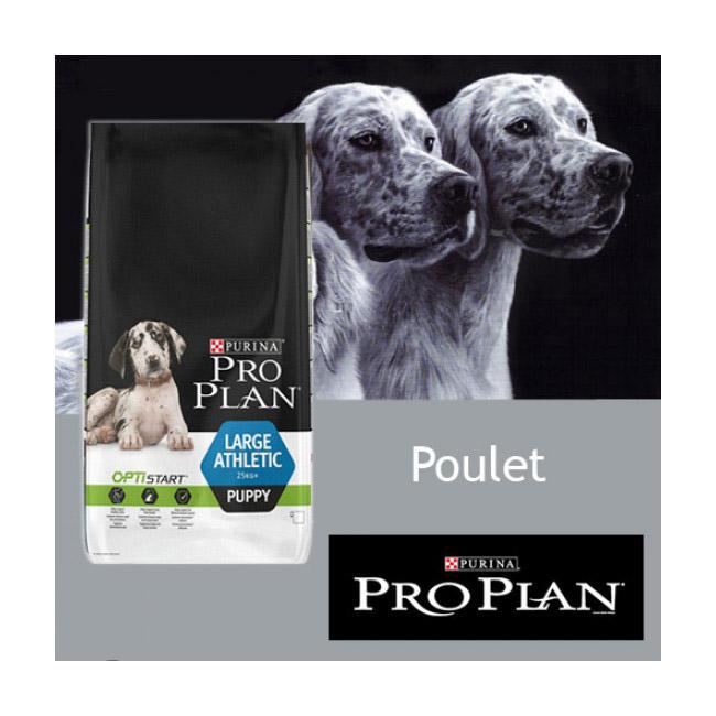 Croquettes Pro Plan chiot Puppy grande taille athlétique Poulet