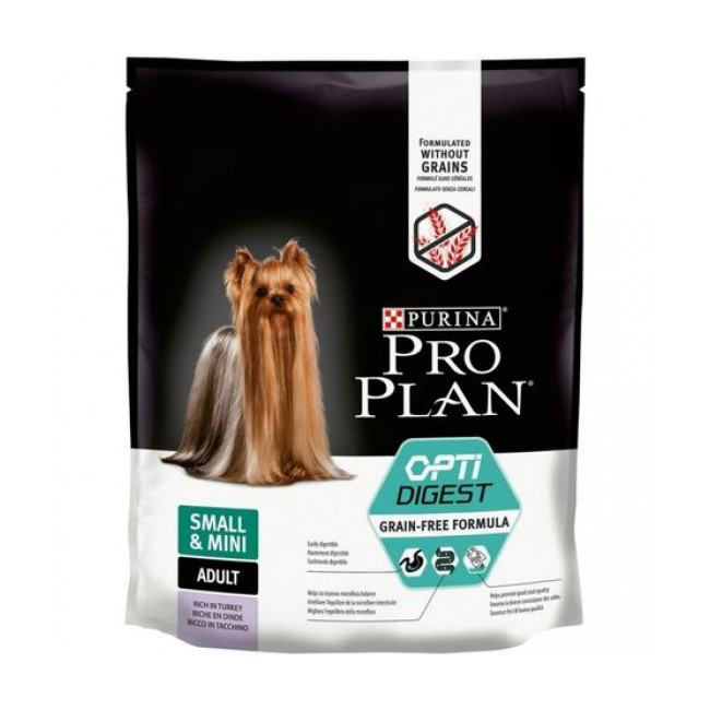 Croquettes ProPlan Grain Free OptiDigest Small Mini Adulte pour chien