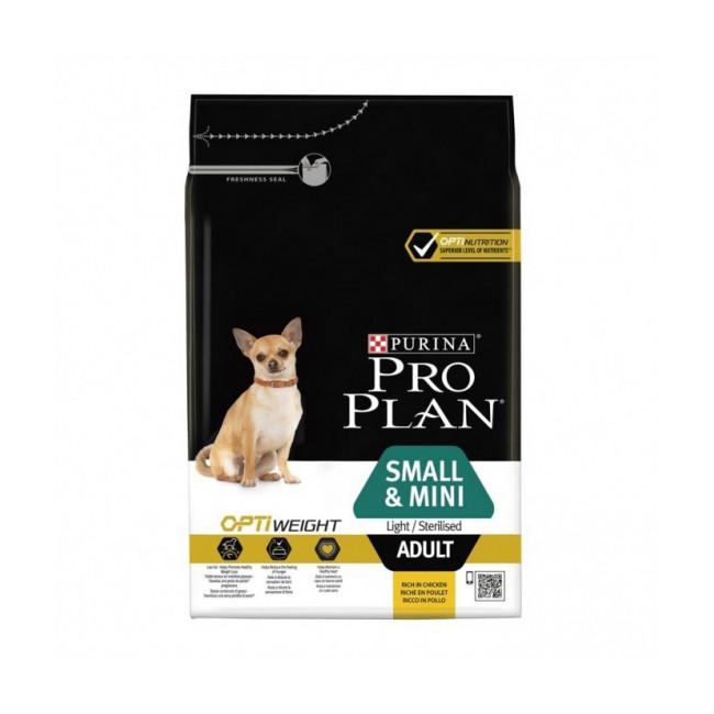 Croquettes Pro Plan Small & Mini Adult Light/Sterilised Poulet