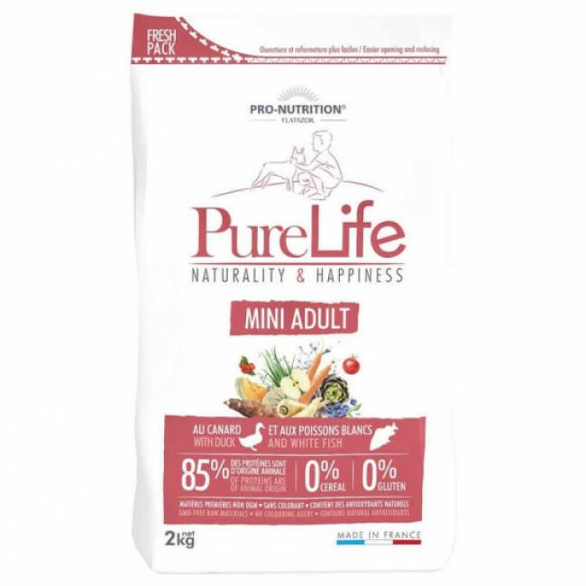 Croquettes Pure Life mini adult sans céréales Flatazor Pro Nutrition pour chien