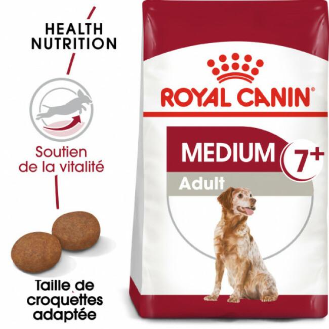 Croquettes Royal Canin Medium Adulte 7+