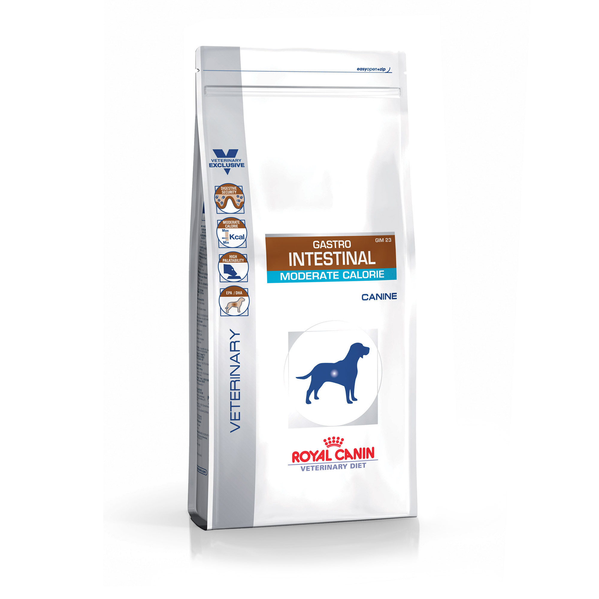Croquettes Royal Canin Veterinary Diet Gastro Intestinal Moderate Calorie pour chiens