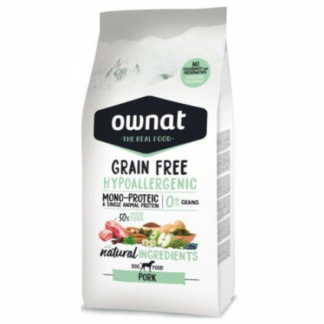 Croquettes sans céréales pour chien adulte Ownat Grain Free Hypoallergenic Sac 14 kg