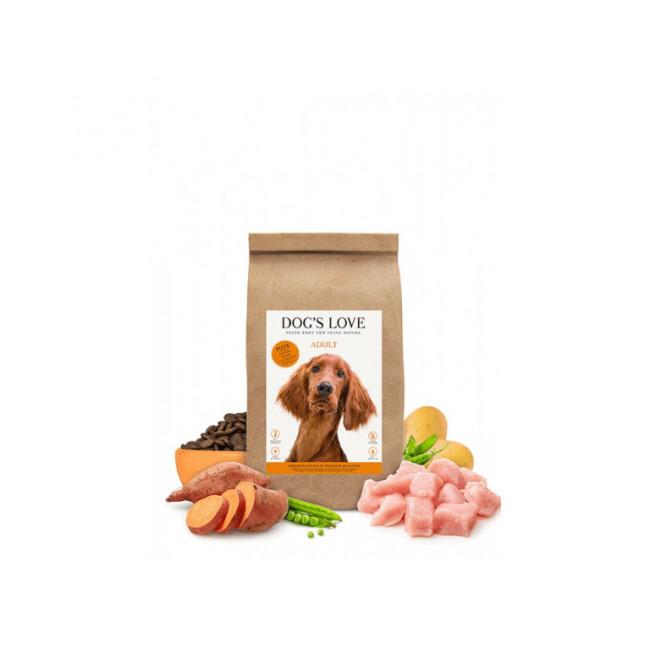 Croquettes sans céréales Dog's Love à la dinde pour chien