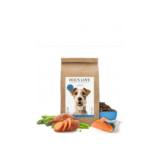 Croquettes sans céréales Dog's Love au saumon pour chien