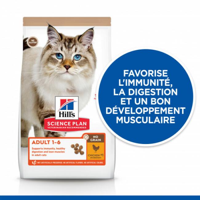 Croquettes sans céréales Hill's pour chat adulte au Poulet