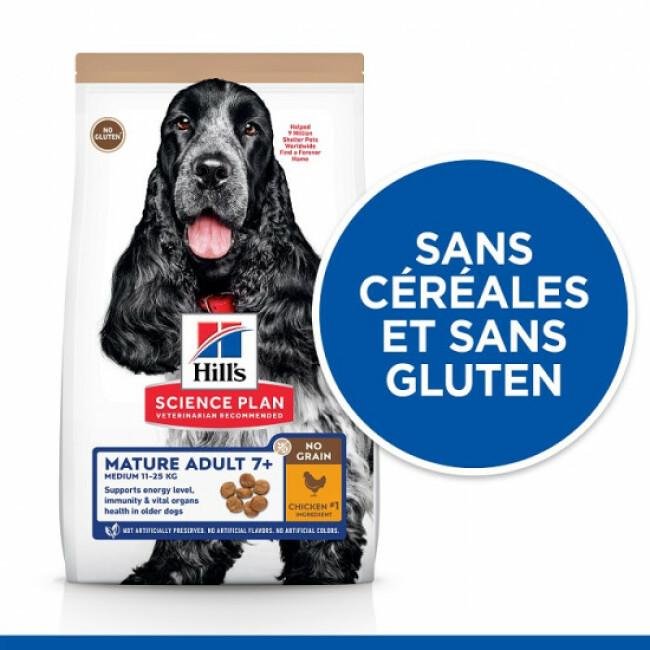 Croquettes sans céréales Hill's pour chien Mature au Poulet