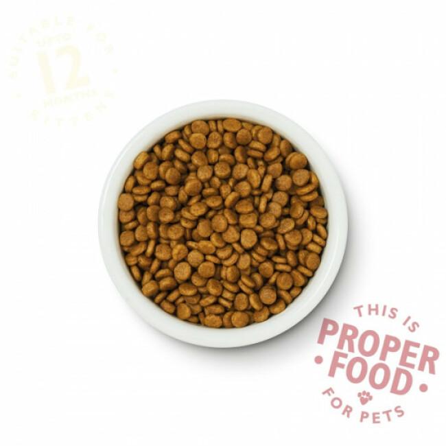 Croquettes sans céréales pour chaton au poulet Lily's Kitchen Sac 800 g